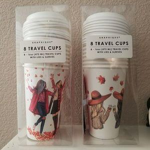 Graphique Fall Travel Cups 16 oz Best Friends